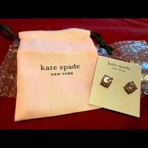 Kate spade pink heart studs